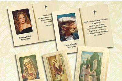 Ricordini di lutto Impresa Cesarano. Per trigesime, anniversari e altre ricorrenze.