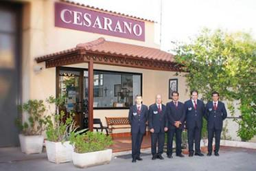 La sede dell'Impresa Funebre Cesarano a Castellammare di Stabia.